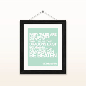 Dragons can be beaten - 8x10 digital download, typography poster, home decor, wall art, instant download, printable, motivational quotes