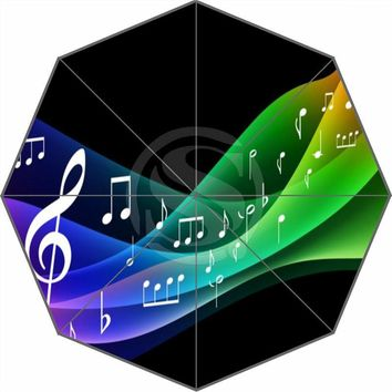 Hot Sale Fashion Custom Music notation Umbrella Sunny and Rainy Sunscreen Anti-uv Umbrella