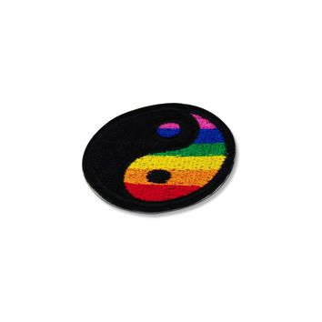 Pride Yin Yang Rainbow Patch Embroidered Iron On Patches