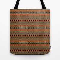 Tribal Fire Tote Bag by Gretzky
