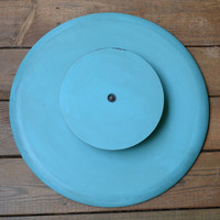 Lazy Susan Turntable Turquoise Blue Aqua Shabby Chic Recycle Upcycle Handmade LittlestSister
