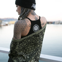 NEW- DIVINITY Shawls Collection - Festival Shawls with Sacred Geometry and Third-eye Chakra