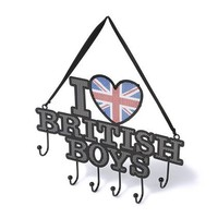 I Heart British Boys Hanging Jewelry Holder  | Claire's