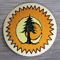 Sun, Moon, PIne Tree Sticker Outdoor Bumper Stickers