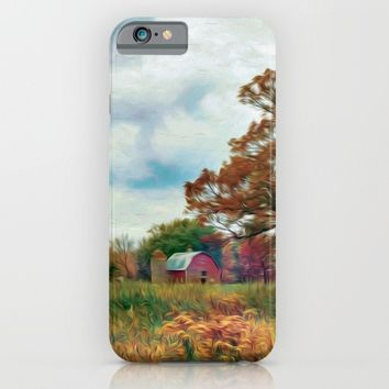 Red Barn Fall iPhone & iPod Case by Heidi Haakenson