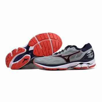 Mizuno Wave Rider 21 Grey/Black-Coral J1GD180303