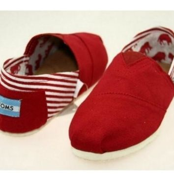 VLX0E4 MEN TOMS UNISEX FLAT SHOES FASHION LEISURE LOAFERS