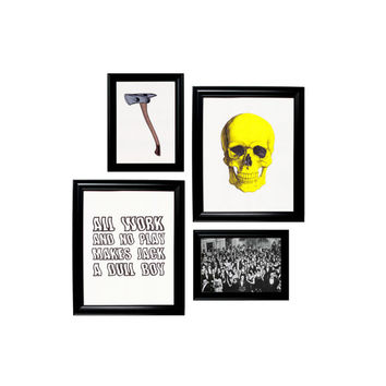 Gallery Wall 4 Prints Framed Wall Hangings - The Shining Halloween Set