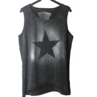 PUNK ROCK New Fashion hollow out sex tank tops casual Tank tee  T-shirt Women's Clothing Clothes Tops