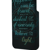 Best 3D Full Wrap Phone Case - Hard (PC) Cover with Harry Potter Symbol Quotes Design