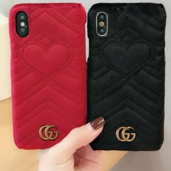 Gucci print phone shell phone case for Iphone 6/6s/6p/7p/7/8/8p/X/4/4s/5/5s