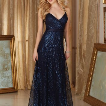 Morilee 20484 Halter Neck Sequin Bridesmaid Dress