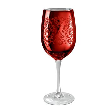 Artland Brocade Red Colored Wine Glass - 15 OZ.