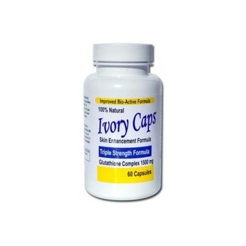 Ivory Caps Maximum Potency (1500 mg) Glutathione Skin Whitening Pills Complex 60 Caps