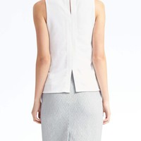 Cutout Sleeveless Mock Top | Banana Republic