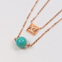 Louis Vuitton LV New Fashionable Simple Pendant Necklace Accessories Jewelry I-HLYS-SP