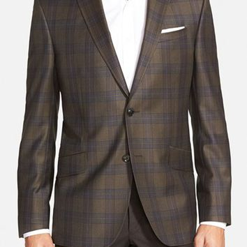Ted Baker London Trim Fit Plaid Wool Sport Coat,