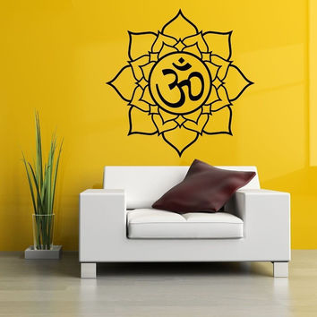OM Sacred Lotus Vinyl Wall Decal