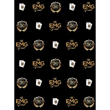 Custom Casino Gold Step and Repeat Party Backdrop (ANY TEXT) Engagement, Birthday, Baby Shower - C0205
