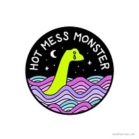 Hot Mess Monster Vinyl Sticker
