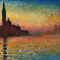 Sunset In Venice Posters by Claude Monet at AllPosters.com
