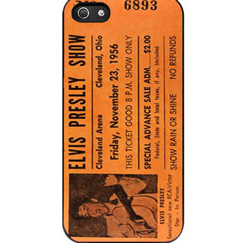 Elvis Presley Vintage Ticket iPhone 5s For iPhone 5/5S Case