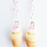 Vanilla Bean Cupcakes Dangle Earrings
