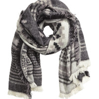 Jacquard-weave Scarf - from H&M