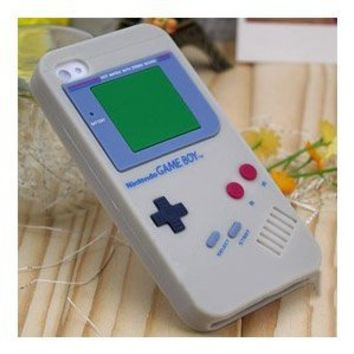 GRAY Game Boy Series Silicone Rubber iPhone 4/4S Case