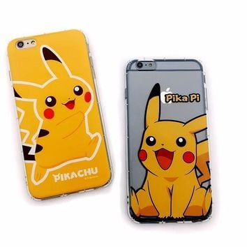For iPhone 7 8 plus Pikachue TPU Mobile Phone Case For iPhone 5 5s SE 6 6s 6plus 6splus s Case Transparent For iPhone XKawaii Pokemon go  AT_89_9