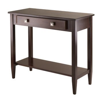 Richmond Console Hall Table Tapered Leg And Single Drawer By Win