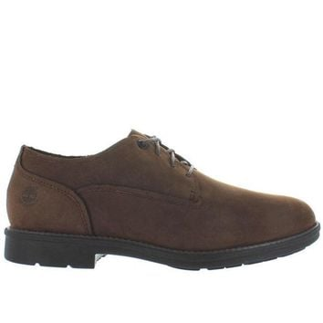 CREYONIG Timberland Earthkeepers Carter Oxford Notch - Waterproof Brown Leather Oxford