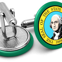 State Flag Washington Cufflinks