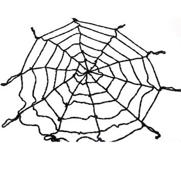 1.5M Gothic Spooky Plush Spider Web Net Halloween Haunted House Bar Decoration Party Supplies