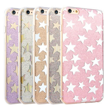 New Fashion Glitter Powder Case For iPhone 6 6s Plus Bling Sparkling Luxury Silicone Soft Cases Cover For iphone 6 7 7Plus