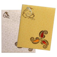 Glorious Gold Invitation Card-KNK3698