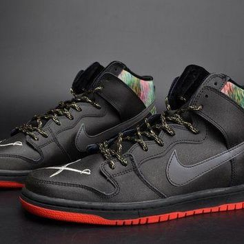 Jacklish Spot X Nike Sb Dunk High Gasparilla Black/challenge Red Metallic Silver For Sale