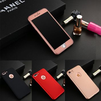 360 Case Full Body Protection iPhone 6 6S Plus Phone Cases Ultra thin Hard PC Front Soft TPU Cover