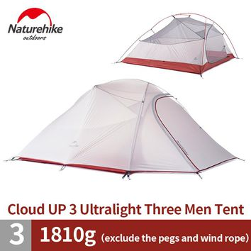 NatureHike 3 Person Lightweight Camping Tent Outdoor Hiking Backpacking Ultralight Waterproof 3 Man Best Family Camping Tent