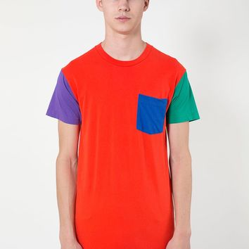 rsa2404 - Power Washed Color Block Pocket Tee