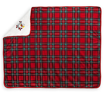 Mickey And Minnie Mouse Festive Throw Rug