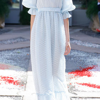 Organza Fil Coupe Long Dress | Moda Operandi