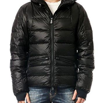 Wiberlux Moncler Mouthe Men's Hooded Glossy Goose Down Jacket