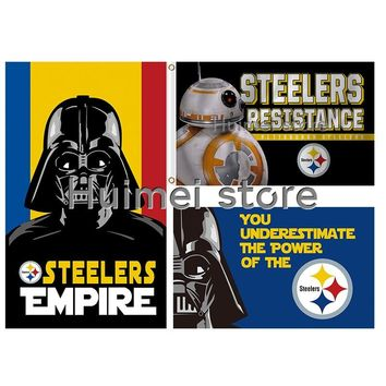 New style 3x5FT Pittsburgh Steelers flag with American banner flag 100D Polyester flag in hot sell Pittsburgh Steelers flag