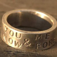 You ME Now Forever Ring Sterling Silver Band Ring by ExCognito