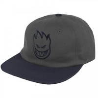 Spitfire Wheels Spitfire Bighead Unstructured 6-Panel Snapback Hat - Grey/Navy