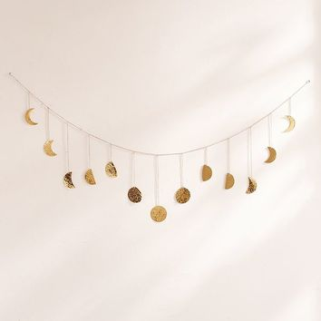 Hammered Metal Moon Cycle Banner | Urban Outfitters