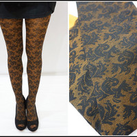 Floral Mesh Leggings / Tights ON SALE