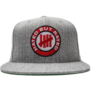 Undefeated - Rated Snapback Cap (Grey Heather)