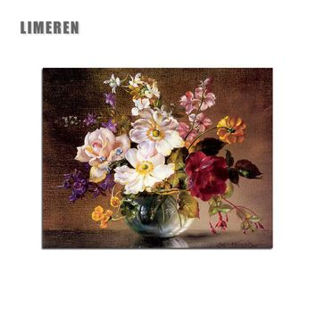 Unframed Vase Flowers Still Life Painting By Numbers Potted Flowers Modern Wall Art Picture